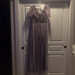 Lavender Adrianna Papell sequined gown